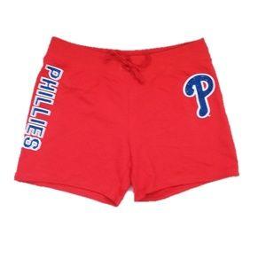 Philadelphia Phillies Red Sparkle Athletic Shorts